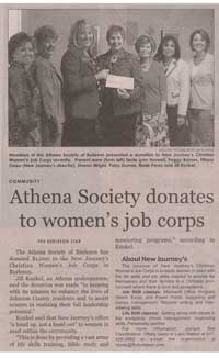 2010 ATHENA Society of Burleson donation to Women's Job Corps
